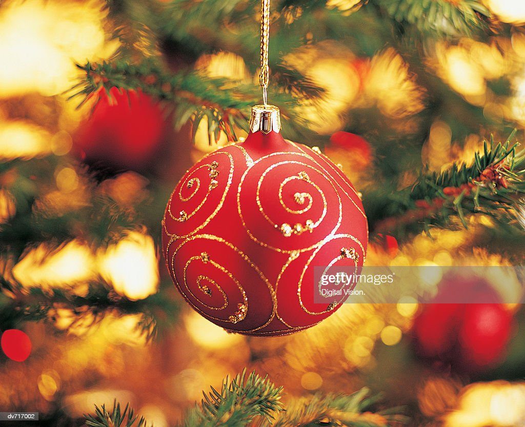 Close-Up of a Christmas Ornament : Stock Photo