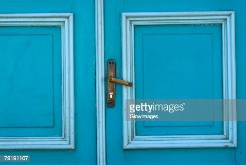 Close-up of a closed door : Stock Photo