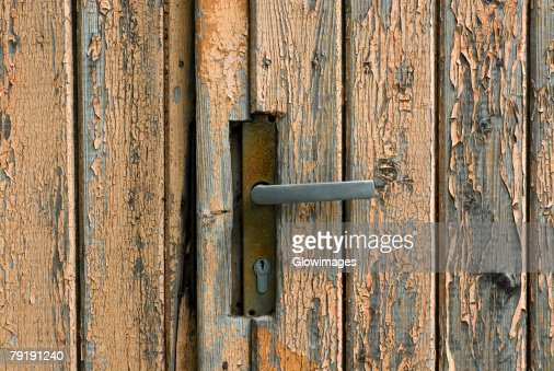 Close-up of a closed door : Foto de stock