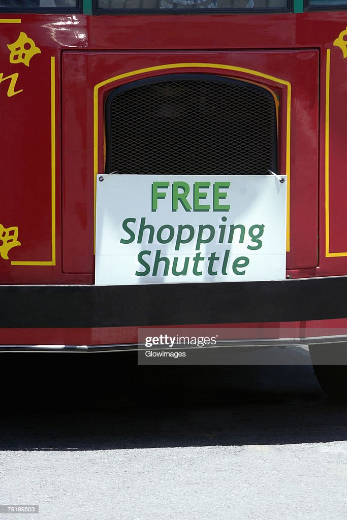 Close-up of a commercial signboard on a bus, Hawaii islands, USA : Foto de stock