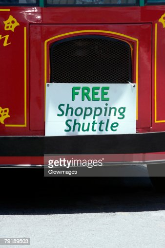 Close-up of a commercial signboard on a bus, Hawaii islands, USA : Stock Photo