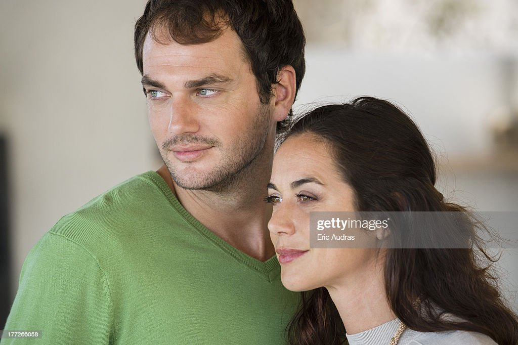 Close-up of a couple smiling : Stock Photo