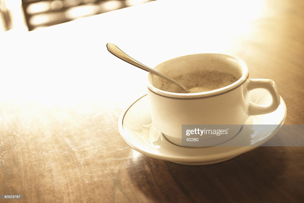 Close-up of a cup of coffee : Stock Photo