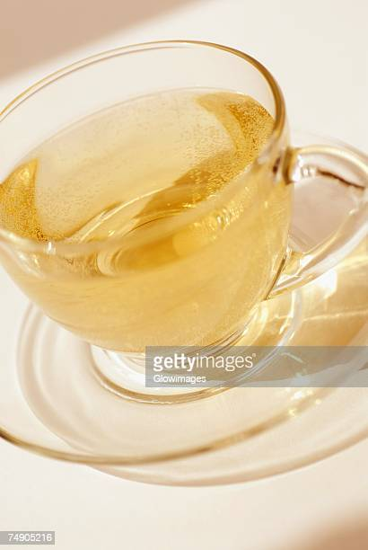 Close-up of a cup of herbal tea