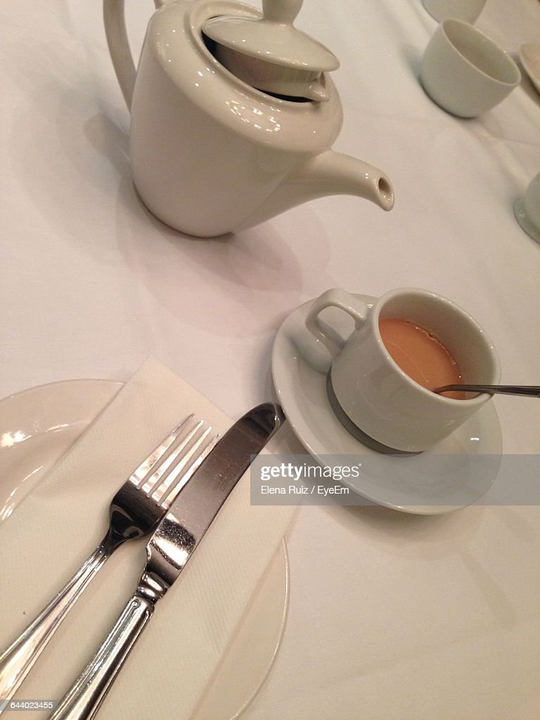 Close-Up Of A Cup Of Tea On Table