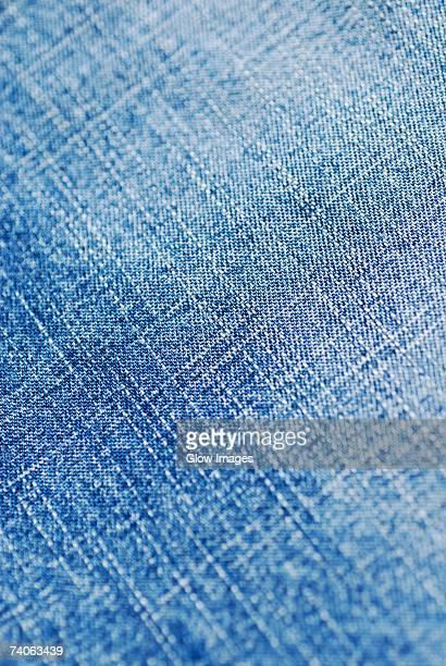 Close-up of a denim fabric