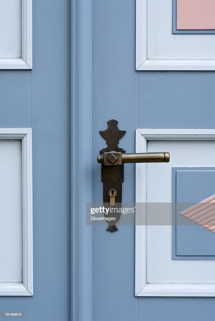 Close-up of a door handle : Stock Photo