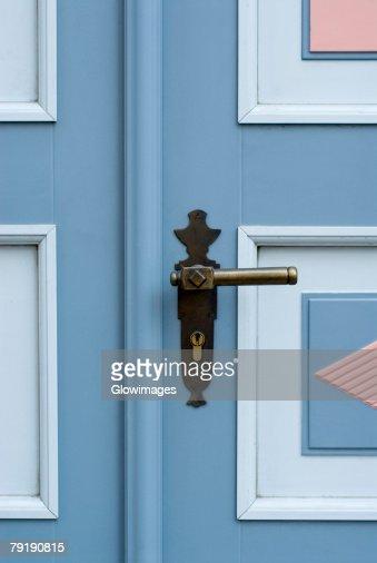 Close-up of a door handle : Stock Photo