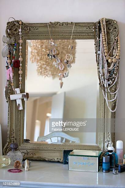 Close-up of a dressing table