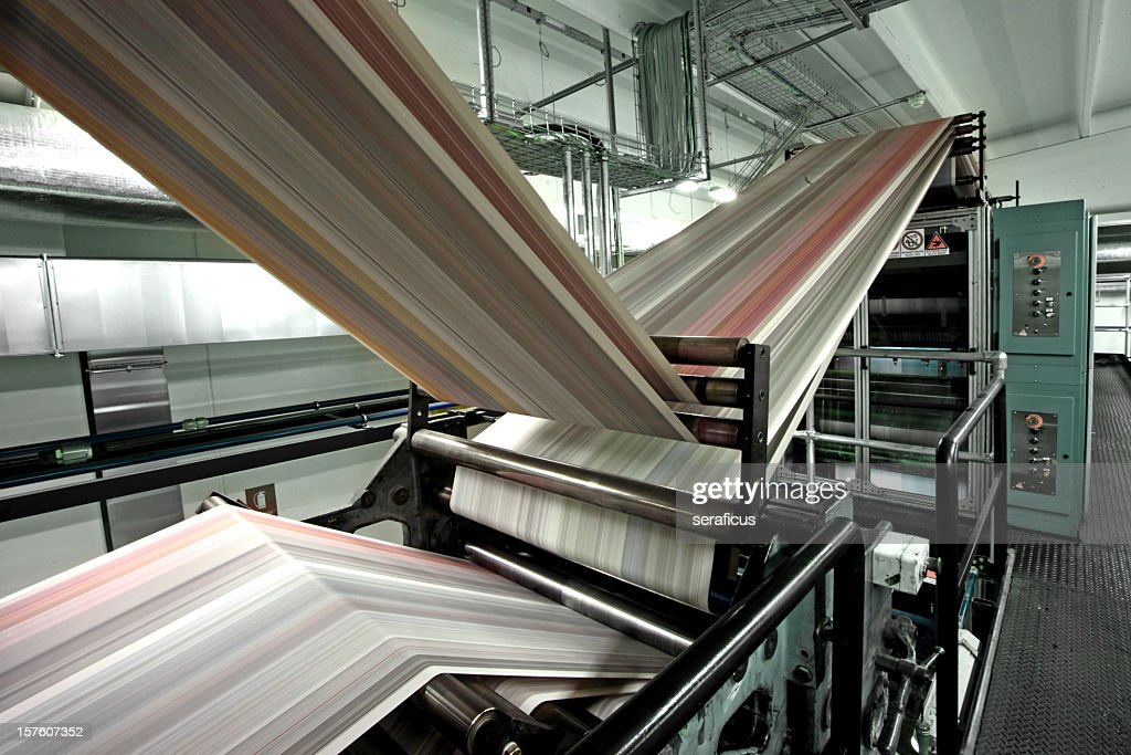 Close-up of a empty printing press