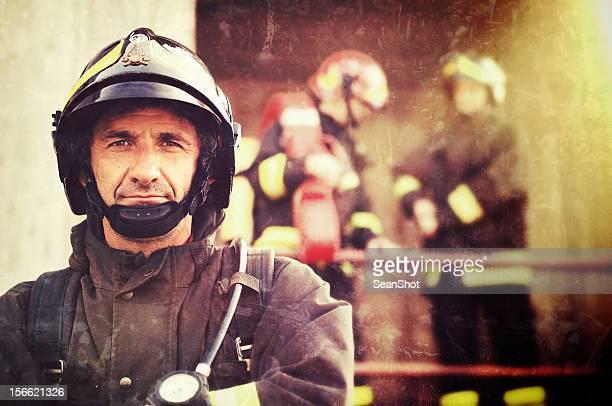 Nahaufnahme eines Feuerwehrmann