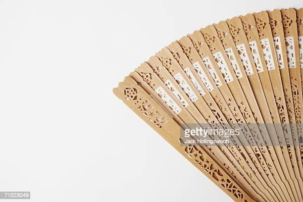 Close-up of a folding fan