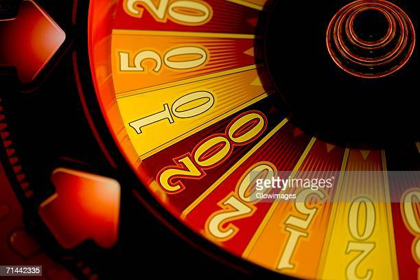Close-up of a fortune wheel, Las Vegas, Nevada, USA