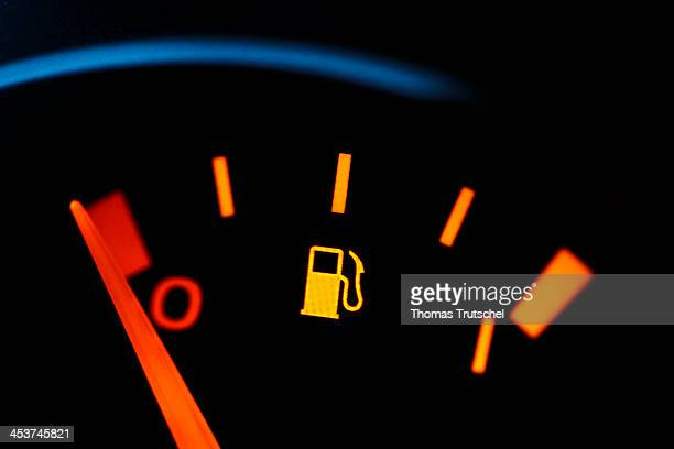 Closeup of a fuel gauge indicating an empty gas tank on December 02 in Berlin Germany Photo by Thomas Trutschel/Photothek via Getty Images