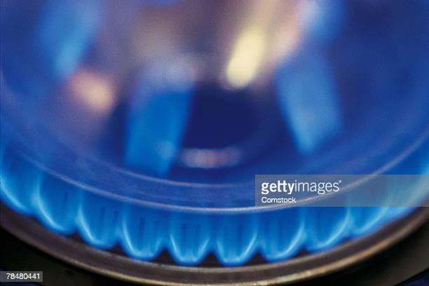 Close-up of a gas burner
