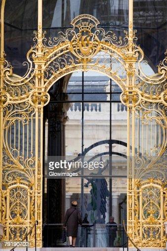 Close-up of a gate, Rome, Italy : Foto de stock