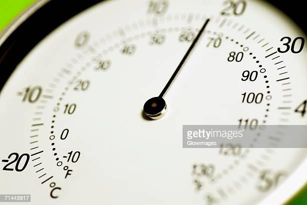 Close-up of a gauge