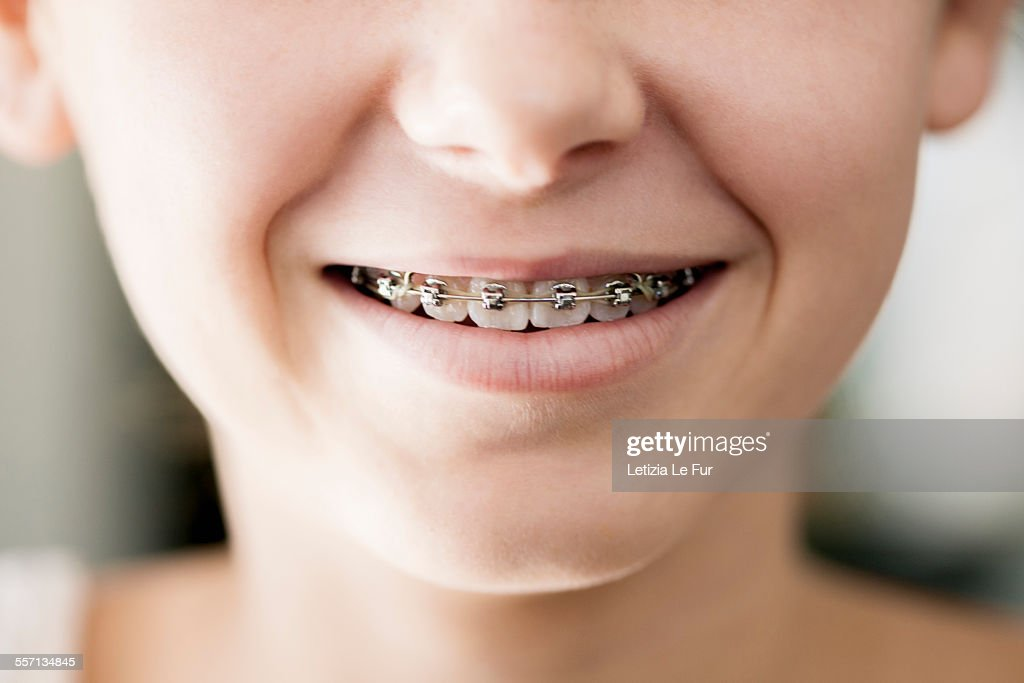 Close-up of a girl smiling