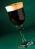 close-up of a glass of Irish coffee
