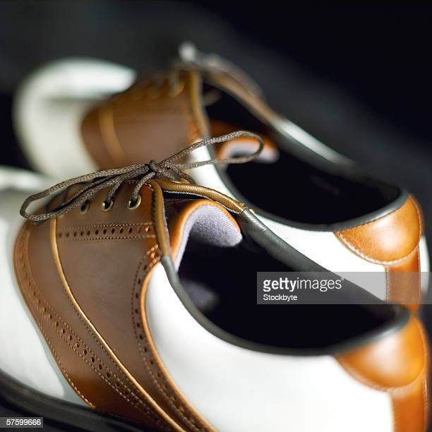 close-up of a golf shoe