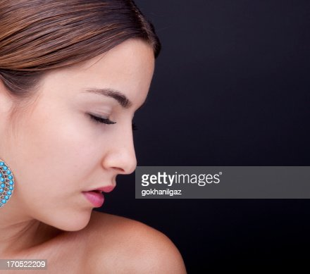 Close-up of a gorgeous young woman portrait : Stock Photo
