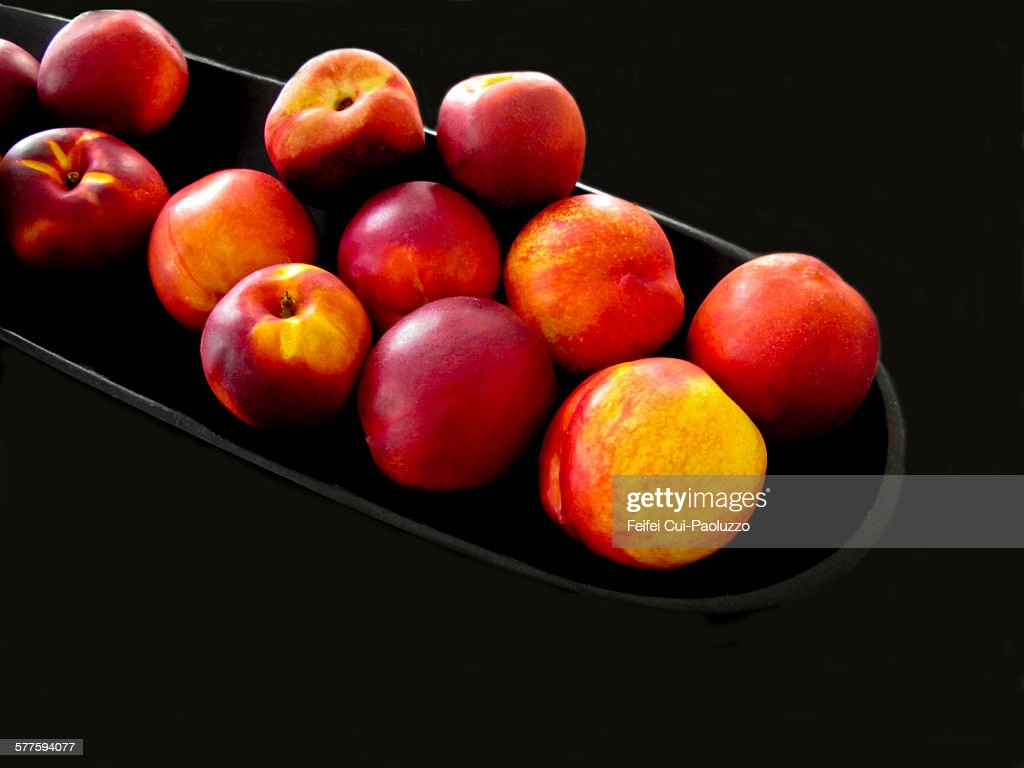 Close-up of a group of Nectarines