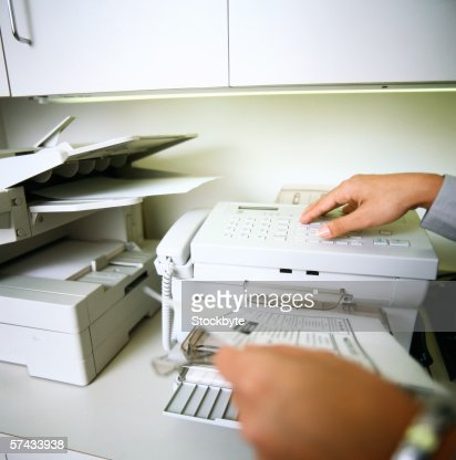 using a fax machine