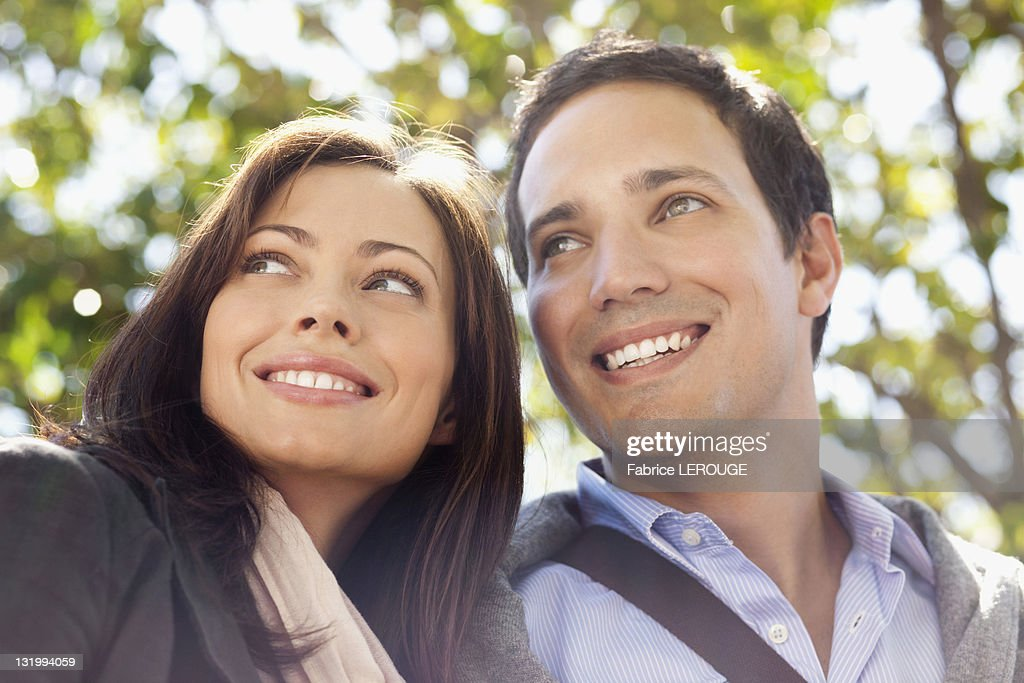 Close-up of a happy couple : Stock Photo
