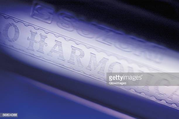 Close-up of a harmonica