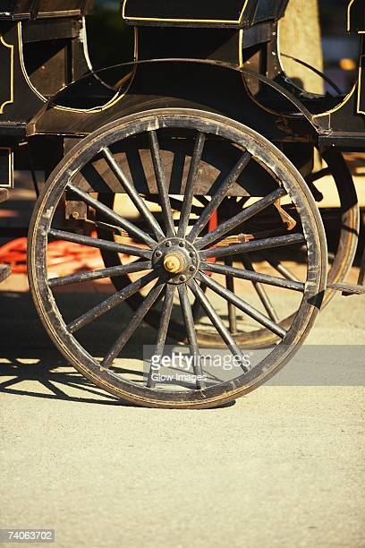 Close-up of a horse cart