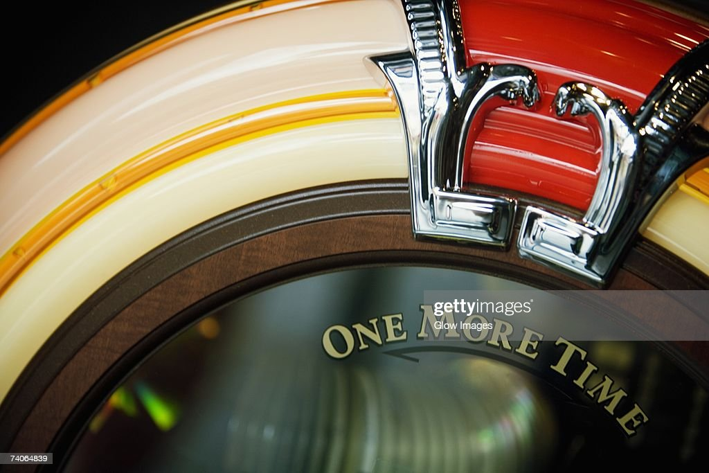 Close-up of a jukebox