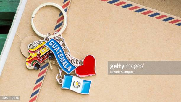 Close-up of a Keychain Souvenir from Guatemala