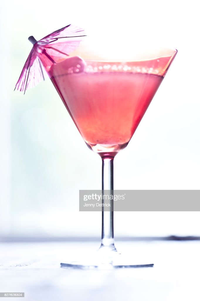 Close-up of a lychee martini : Foto stock