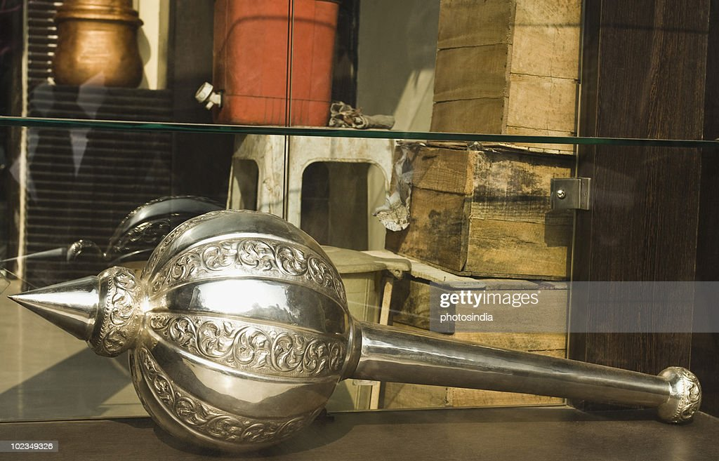 Close-up of a mace on a market stall, Delhi, India