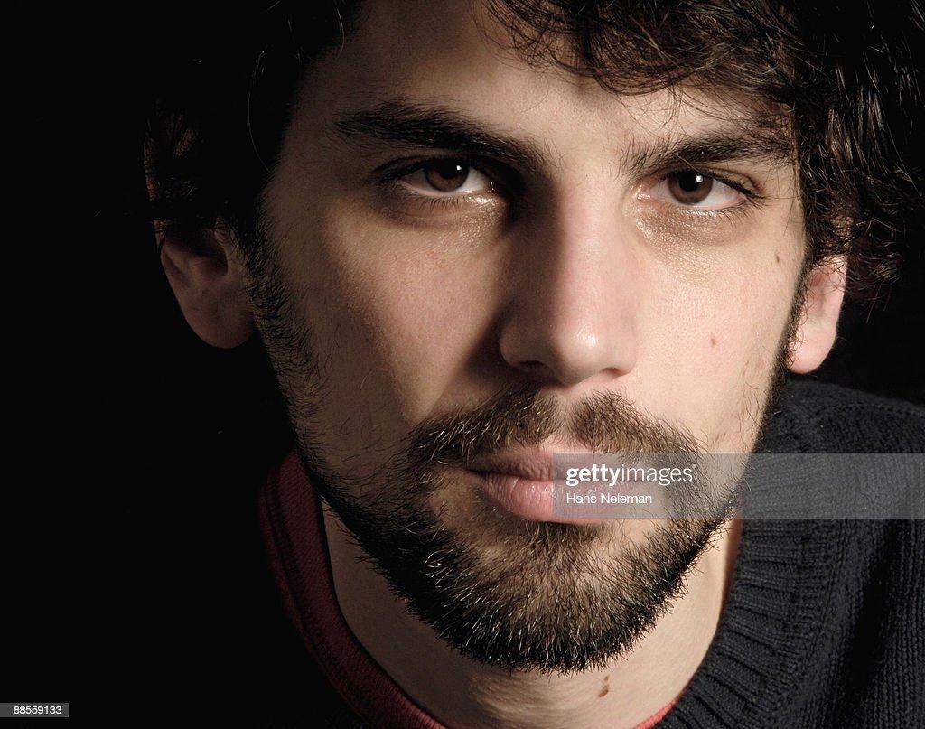 Close-up of a man's face : Stock Photo