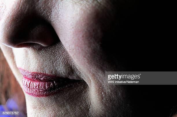 Close-up of a mature woman's face