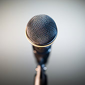Close-up of a microphone