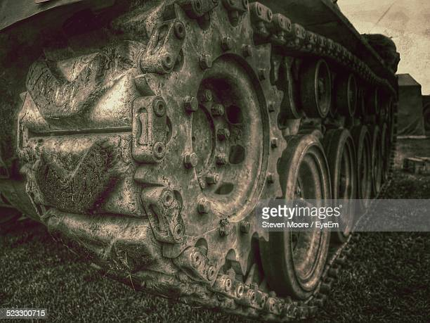 Close-Up Of A Military Tank
