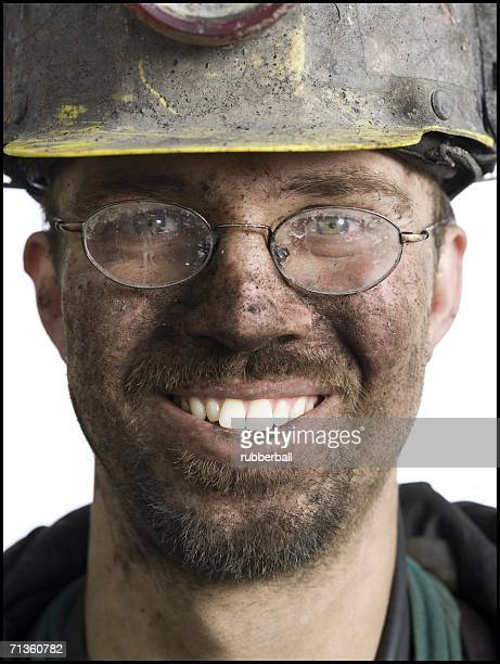 Close-up of a miner smiling