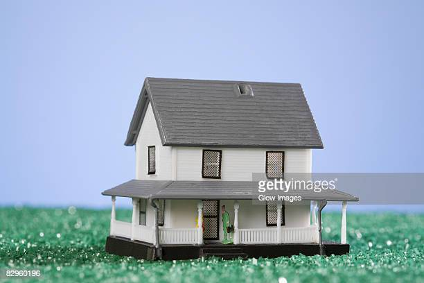 Close-up of a model home