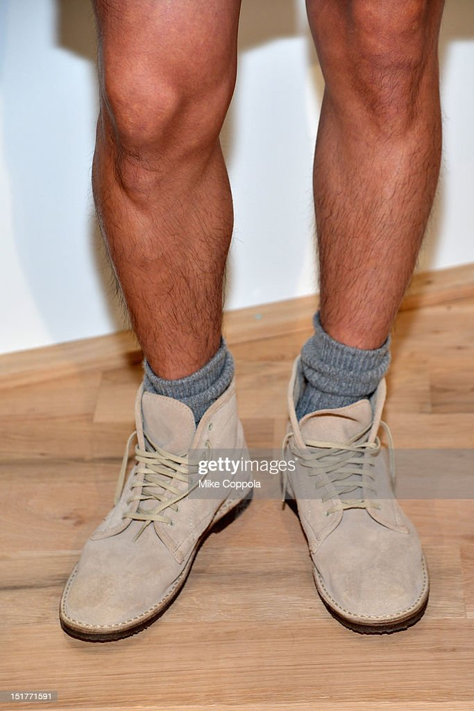 A close-up of a model's shoes at the J.Crew Presentation during the Spring 2013 Mercedes-Benz Fashion Week at The Studio at Lincoln Center on September 11, 2012 in New York City.