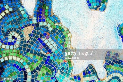Close-up of a mosaic tile design