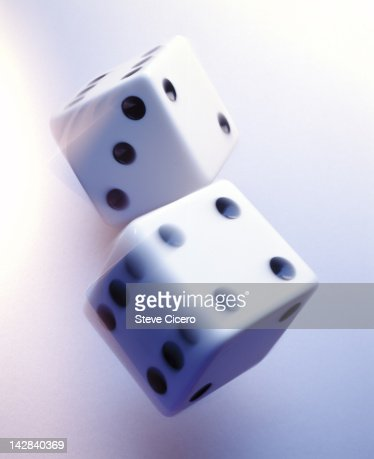 Close-up of a pair of dice : Stock Photo