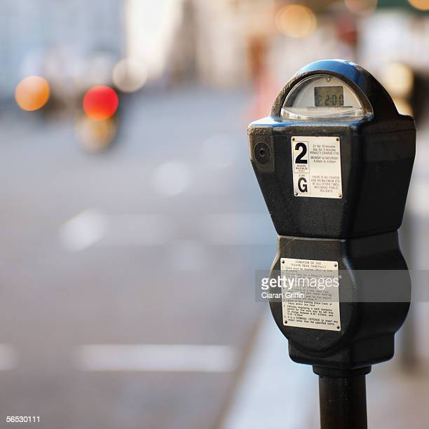 close-up of a parking meter
