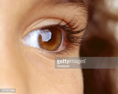 close-up of a person's eye : Stock Photo