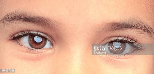 close-up of a person's eyes