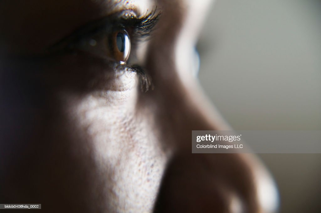 Close-up of a person's face : Stock Photo