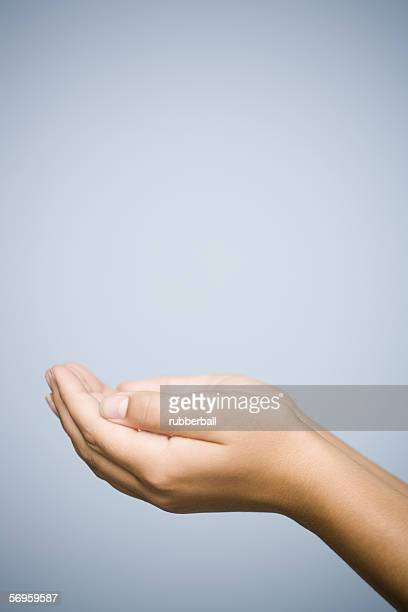 Close-up of a person's hands cupped