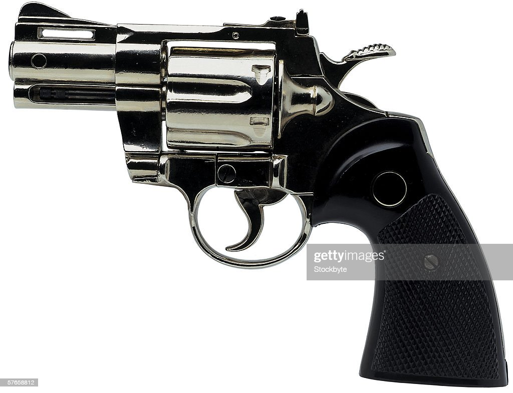 close-up of a pistol : Foto stock