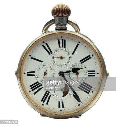close-up of a pocket watch